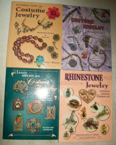 4 Antique Vintage Jewelry PRICE GUIDE Collector Books Ring Necklace Earrings mor