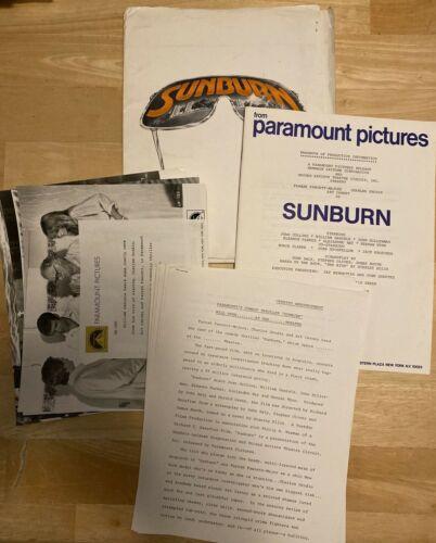 SUNBURN Paramount Press Kit 4 Photos Joan Collins Farrah Fawcett Grodin Carney