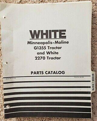 Minneapolis-moline G1355 White 2270 Tractor - Parts Catalog - 1975