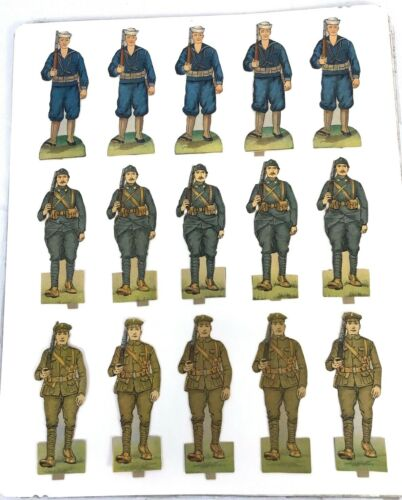 Vintage Paper Toy Soldiers & Sailors