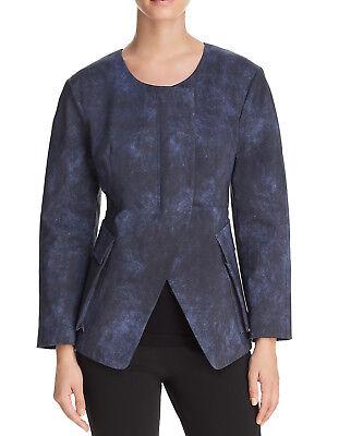 Donna Karan New York Indigo Patch Flap Pocket Jacket Size 4 NWT MSRP 145$+TAX (Indigo Patch)