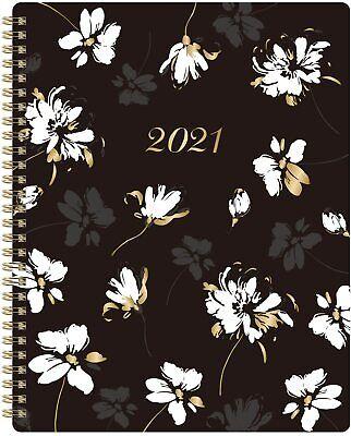 2021 Planner Monthly Weekly Organizer Calendar 8x10 Floral Agenda Schedule Book