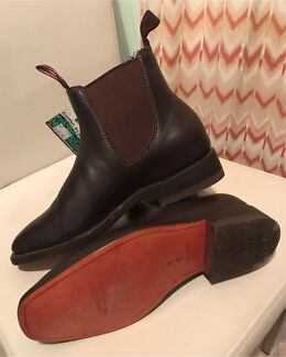 Thomas Cook Riding Boots size 7 leather sole new women shoes