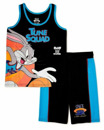 NWT Space Jam Boys Tank Top Shorts Set T-Shirt A New Legacy Tune Squad Sz 6-16