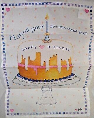 Wincraft Birthday Cake Garden Flag 11 X 15 Inches Doors, walls, garden  New -