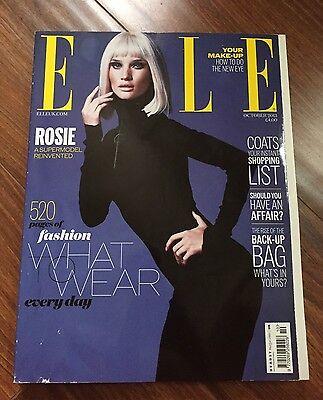 Elle Uk Rosie Huntington Whiteley Cover October 2013