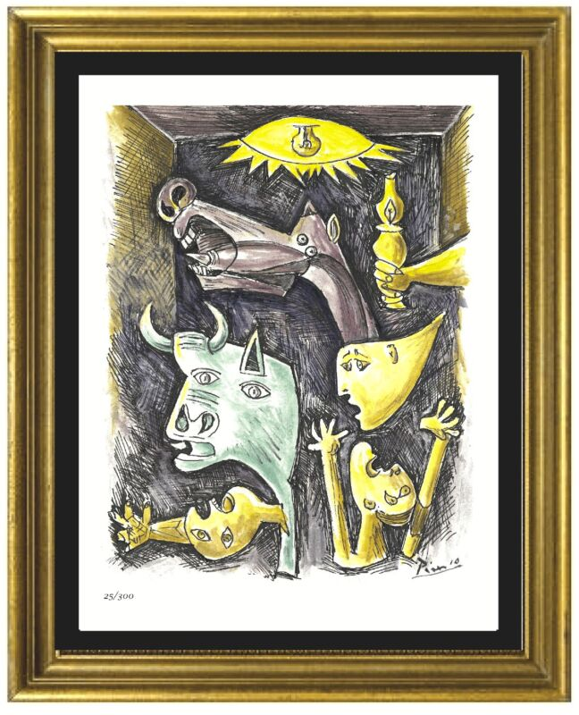 "Pablo Picasso Signed & Hand-Numbered Ltd Ed ""Guernica"" Litho Print (unframed)"
