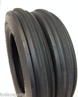 Two New 5.00-15 Tractor Tires 5.00x15 3 Rib F2 Tractor Farm 2 Tires 500-15