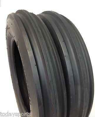 5.00-15 5.00x15 3 Rib F2 Tractor Farm 2 Tires 2 Tubes