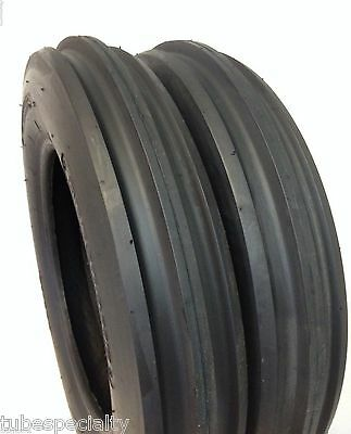 Two New 5.50-16 Tri-rib 3 Rib Front Tractor Tires
