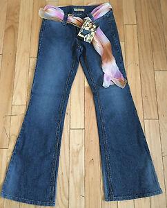 Womens Super Flare Ribbed Jeans Jou Jou Size 7/8