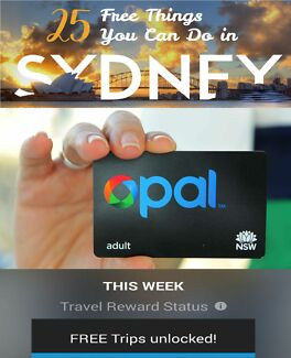 $60 OPAL CARD SIX DAYS FREE SYDNEY TRAVEL Totally Transferrable Sydney City Inner Sydney Preview