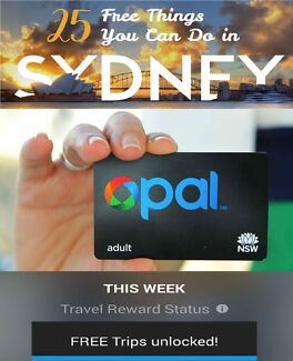 $60 OPAL CARD FIVE DAYS FREE SYDNEY TRAVEL Totally Transferrable Sydney City Inner Sydney Preview