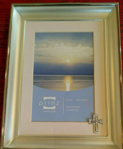 """Prinz Sentiment Collection Frame 4"""" x 6""""- with Cross Actual Item USED"""