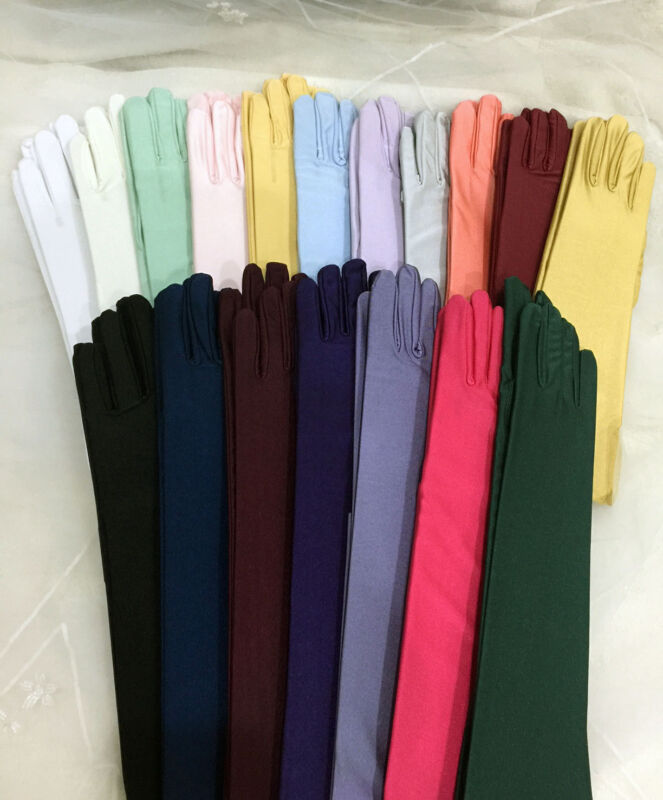 """23"""" Matte Opera Glove Stretch With Spandex.Prom.Halloween.Pick Your Color !"""