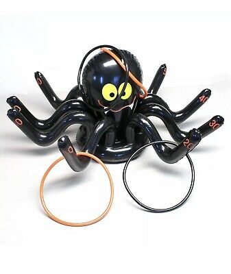 Fun Express Inflatable Spider Ring Toss Game + Free Pumpkin Game - Pumpkin Toss Game