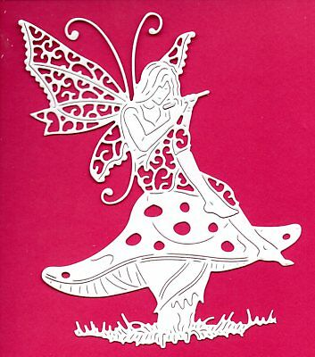 NEW LARGE TATTERED LACE STAR FLOWER FAIRY  DIE CUTS-  FANTASY TOPPER TOADSTOOL