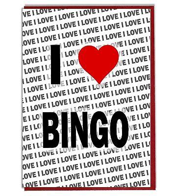 Grußkarte - Geburtstagskarte - Ich Liebe Bingo