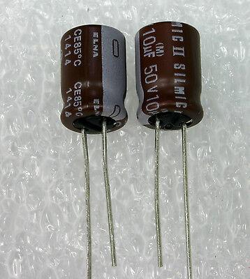 4x  Elna Rfs Silmic Ii 10uf 50v Genuine Audio-grade Capacitor. Usa Seller