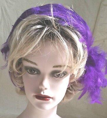 Purple Fascinator Headband Red Hats Halloween Mardi Gras - Halloween Headband Hats