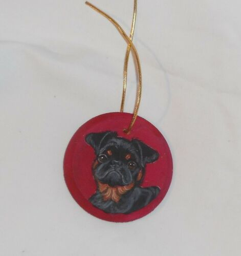 Brussels Griffon Petit Brabancon Dog Ornament Decoration Hand Painted