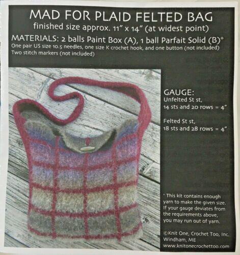 Felted Bag Kit Mad For Plaid