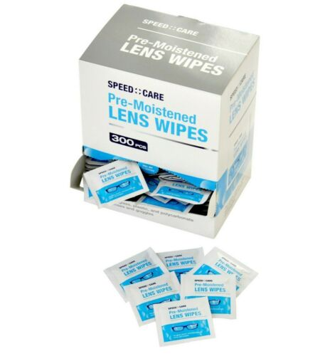 SPEED CARE 300CT Pre-Moistened Lens Cleaning Towelettes Wipes Camera Glasses box