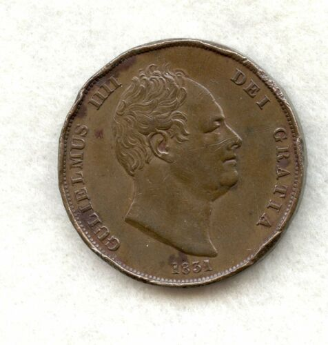 GREAT BRITAIN ~ 1831 ~ 1 PENNY ~ XF