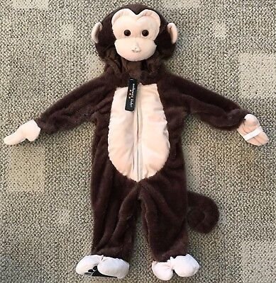 Authentic Kids One Piece Monkey Costume Suit Outfit Infant 9 Months Mos Warm ](Kid Monkey Costume)
