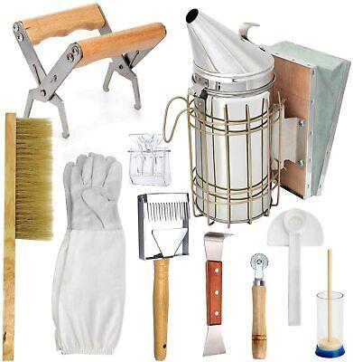 Beehive Smoker Starter Kit 10 Tool Beekeeping Set Equipment Supplies Honey Knife