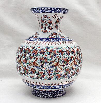Schöne antike Vase Kupfer emailliert ca. 1900 Südostasien Indonesien Handarbeit