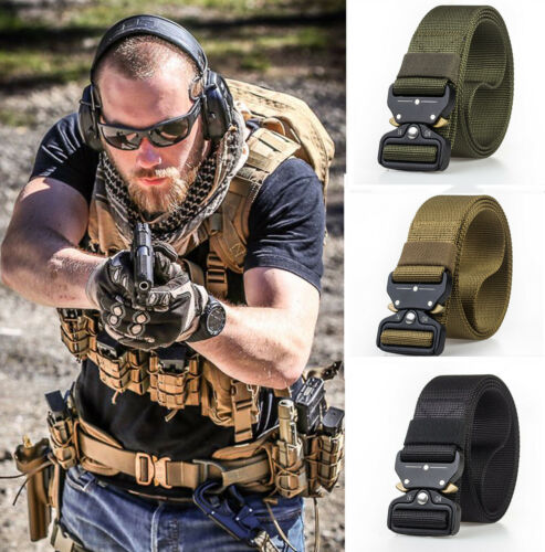 Adjustable Military Tactical Belt Mens Army Combat Waistband