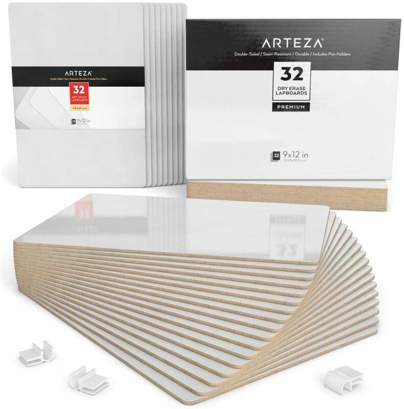ARTEZA Dry Erase Lapboards, Pack of 32
