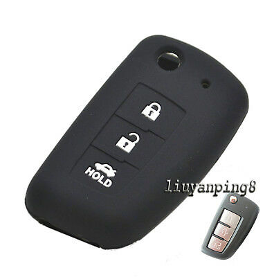 3 Buttons Silicone Shell Key Case Cover For Nissan Rogue Sylphy Pulsar Sentra