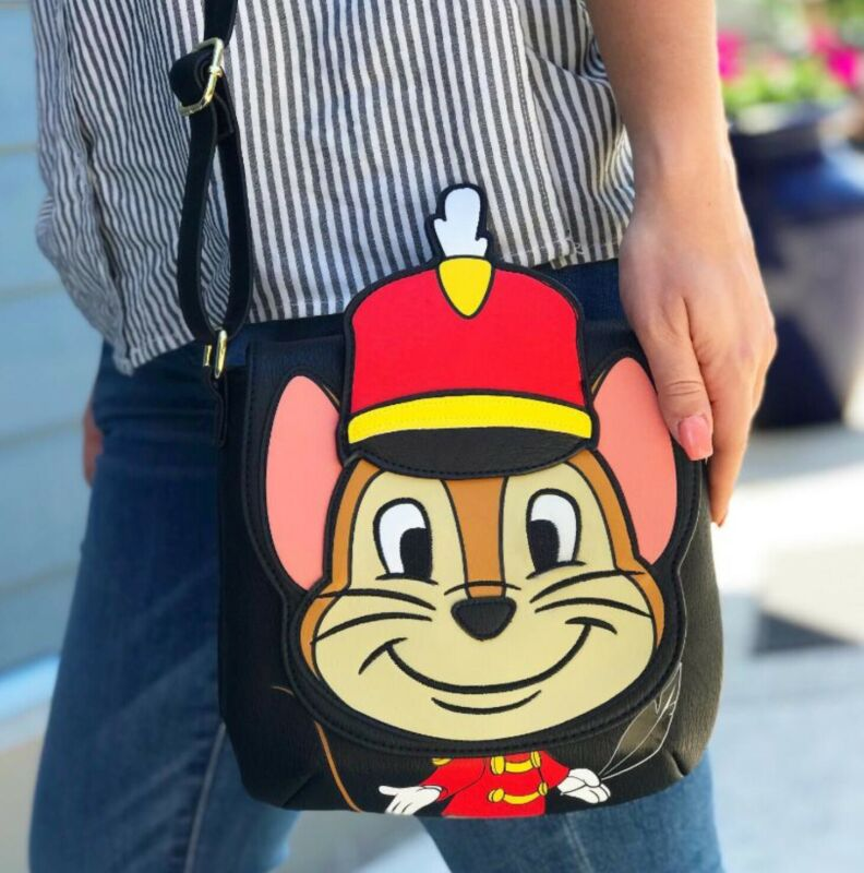 Loungefly Disney Dumbo Timothy the Mouse Crossbody Foldover Bag Purse New