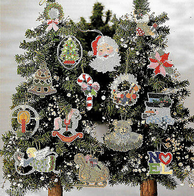 15 CHRISTMAS CROSS STITCH BEADED TREE ORNAMENTS -  VINTAGE PATTERNS (Bead Stitch Patterns)