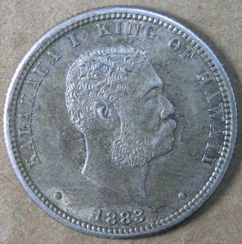 Hawaii 25c 1883 AU-Unc Details * AvenueCoin