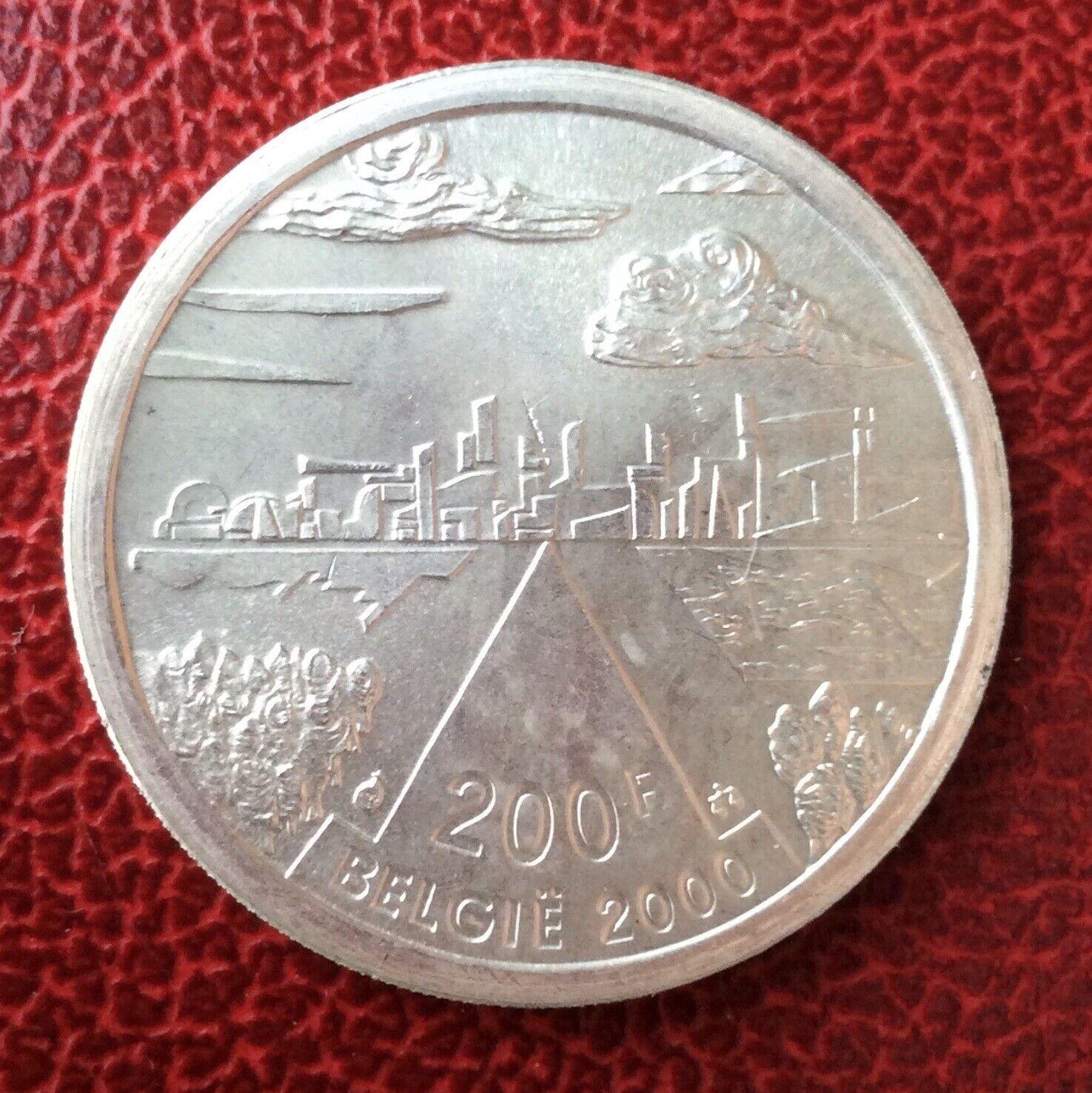 Belgique - Superbe  monnaie de 200 Francs 2000 VL en Argent