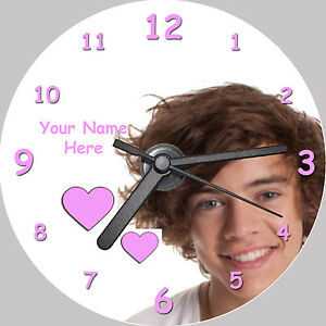 Harry-Styles-One-Direction-CD-Clock-with-FREE-stand-personalised