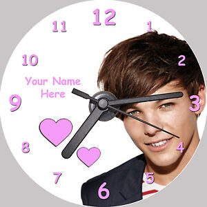Louis-Tomlinson-One-Direction-Personalised-CD-Clock-FREE-desktop-stand