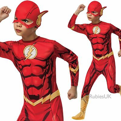 Boys Kids Official Flash Costume Superhero Child Fancy Dress Cosplay Outfit](Official Superhero Costumes)
