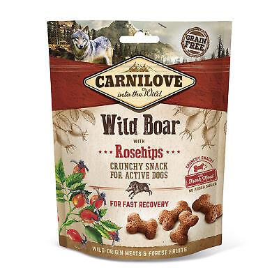 Carnilove Crunchy Wild Boar with Rosehips Crunchy Dog Treat 200G x -