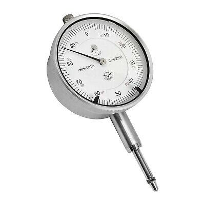 "Dial Indicator 0.25/""//0.0005/"" Professional Grade Smooth Movement Carbide Anvil"