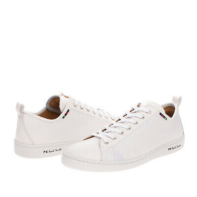 RRP €315 PS PAUL SMITH Leather Sneakers EU 42 UK 8 US 9 Grainy Made in Portugal