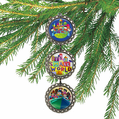 Disney IT'S A SMALL WORLD 3D Bottle Cap Christmas Ornament | Gift for Kids