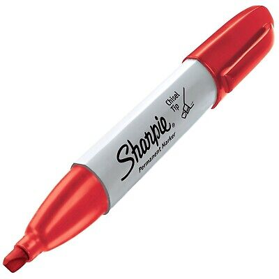 38283 Sharpie Chisel Tip Permanent Marker Red Ink Pack Of 2