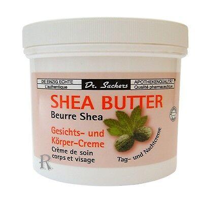 Butter Körper-creme (2 x Shea Butter Gesicht Körper Creme Dr. Sacher s Kühn Kosmetik Sheabutter Creme)