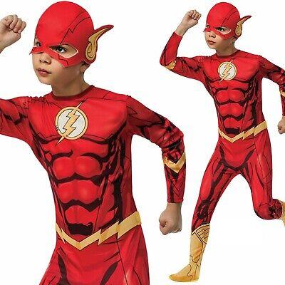 Lizenziert Jungen Kinder Offizieller Flash Kostüm Superheld Cosplay - Offizielle Superhelden Kostüme
