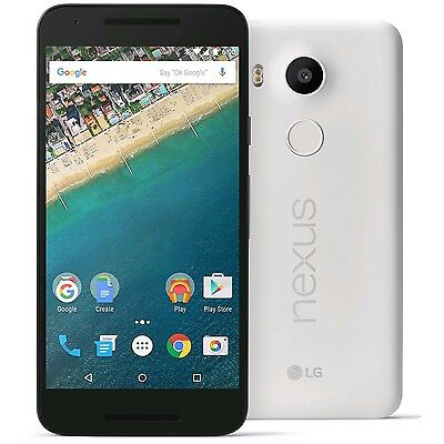 Unlocked LG Nexus 5X H790 32GB WHITE (QUARTZ) 4G LTE Android Smartphone US Model