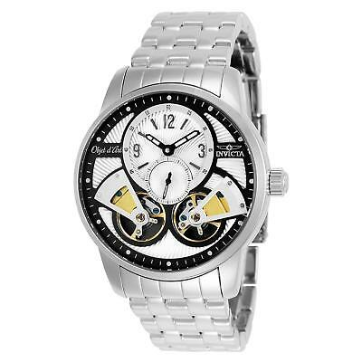 Invicta 25577 Men's OBJET D ART Steel Bracelet & Case Automatic Analog Watch
